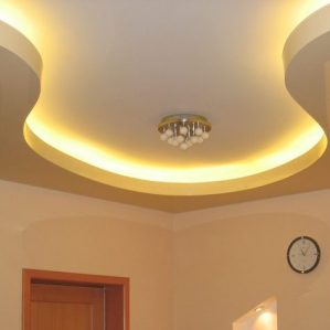 натяжной потолок в комбинации с гипсокартоном