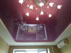 Двухуровневые натяжные потолки 8