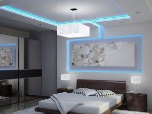 Натяжные потолки с подсветкой 9