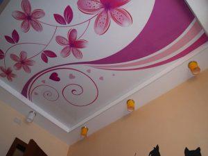 Декоративные натяжные потолки 4