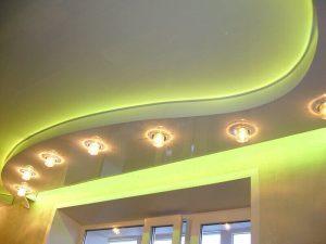 Многоуровневые натяжные потолки 3