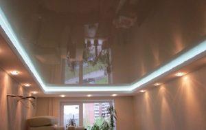 Двухуровневые натяжные потолки 23
