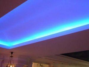 Натяжные потолки с подсветкой 5