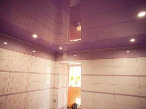 Натяжной потолок в ванную 7