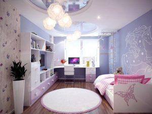 Натяжной потолок в детскую 3