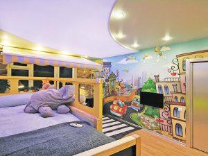 Натяжной потолок в детскую 1