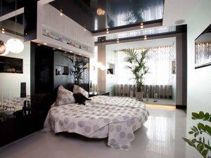Натяжные потолки в спальню 5