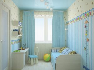 Натяжной потолок в детскую 6