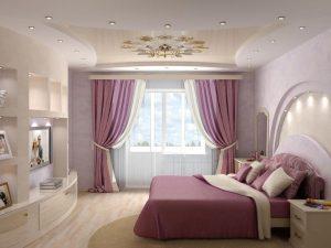 Натяжные потолки в спальню 4