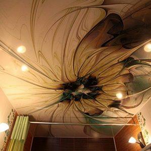 Как сочетать фото рисунок на потолке и стенах