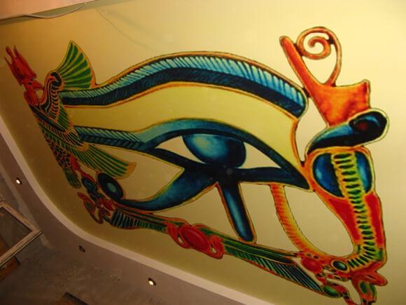 Рисунки Древнего Египта на натяжном потолке 1