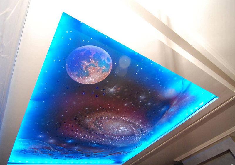 Потолки фотопечать стеклянная крыша создавать