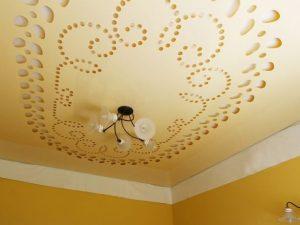 Декоративные натяжные потолки 9