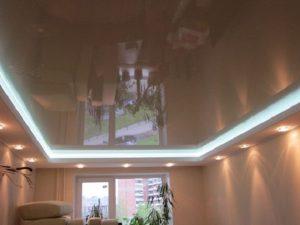 Двухуровневые натяжные потолки 10
