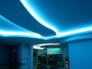 Натяжные потолки с подсветкой 6