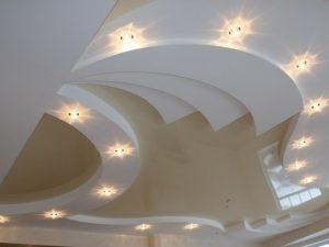 Многоуровневые натяжные потолки 5