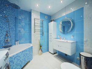 Натяжные потолки для туалета 7