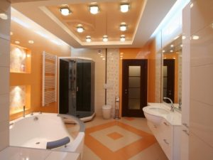 Натяжные потолки для туалета 8