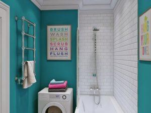 Натяжной потолок в ванную 6
