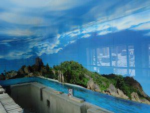 Натяжные потолки в бассейн 6
