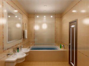 Натяжной потолок в ванную 5