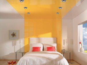 Натяжные потолки в спальню 2