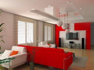 Натяжные потолки в гостиную 8