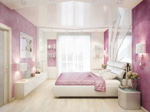 Натяжные потолки в спальню 3