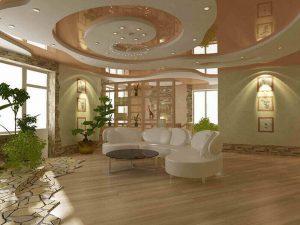 Натяжные потолки в гостиную 5