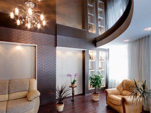 Натяжные потолки в гостиную 4