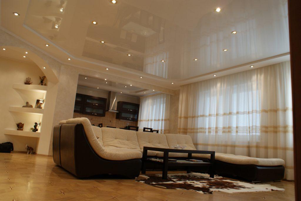 этом навесные потолки фото для зала двухуровневые под непрестанной