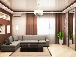 Натяжные потолки для зала 3