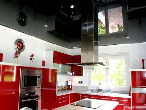Натяжной потолок на кухню 7