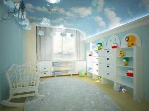 Натяжной потолок в детскую 9