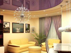 Натяжные потолки в гостиную 7