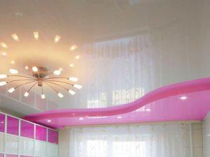 Натяжной потолок на кухню 6