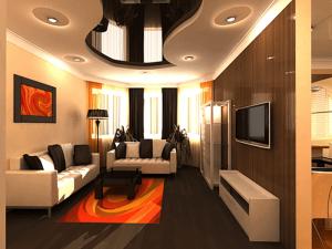 Натяжные потолки в гостиную 6