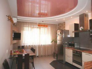 Натяжной потолок на кухню 4