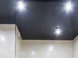 Натяжной потолок в ванную 10