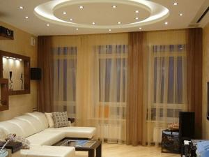 Натяжные потолки для зала 4