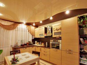 Натяжной потолок на кухню 9