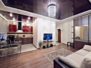 Натяжные потолки в гостиную 3
