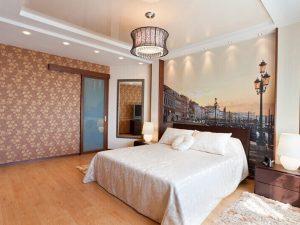 Натяжные потолки в спальню 8