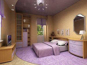 Натяжные потолки в спальню 7