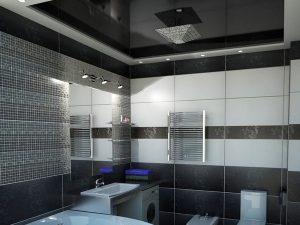 Натяжной потолок в ванную 9