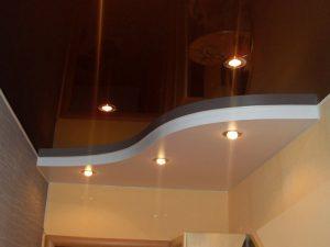 Натяжные потолки в коридор 2