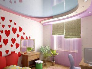 Натяжной потолок в детскую 7