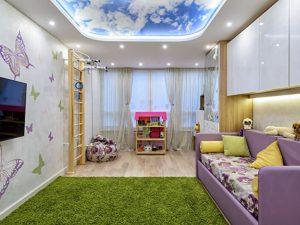 Натяжной потолок в детскую 4