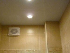 Натяжные потолки для туалета 2