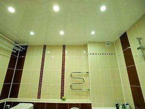 Натяжной потолок в ванную 1